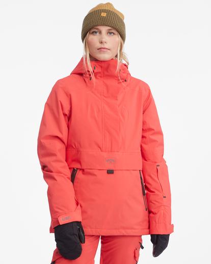 2 Passage Anorak Snow Jacket Red EBJTJ00111 Billabong