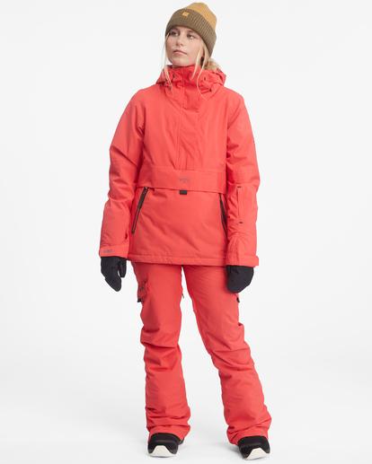 3 Passage Anorak Snow Jacket Red EBJTJ00111 Billabong