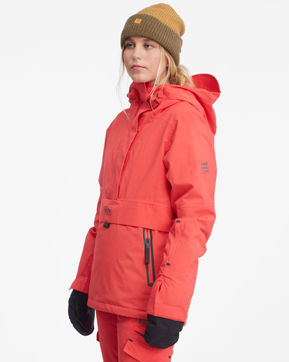 5 Passage Anorak Snow Jacket Red EBJTJ00111 Billabong