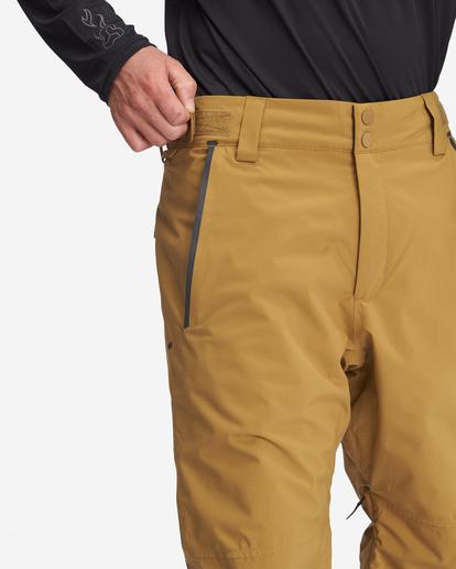 4 A/Div Compass Snow Pants Brown EBYTP00103 Billabong