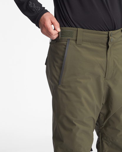 5 A/Div Compass Snow Pants Green EBYTP00103 Billabong
