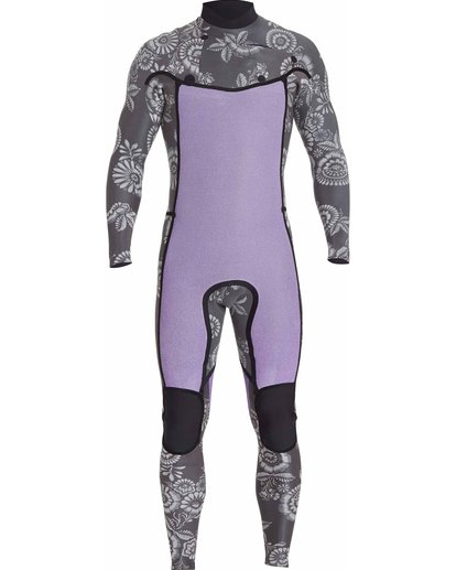 1 3/2 Boys Revolution Tribong Chest Zip Wetsuits Gris F43B12BIF7 Billabong
