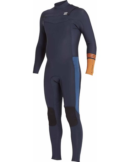 3 3/2 Boys Revolution Tribong Chest Zip Wetsuits Gray F43B12BIF7 Billabong