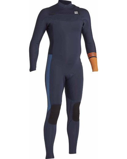 4 3/2 Boys Revolution Tribong Chest Zip Wetsuits Gris F43B12BIF7 Billabong