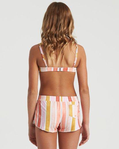 6 Girls' So Stoked Swim Short Grey G1013BSO Billabong