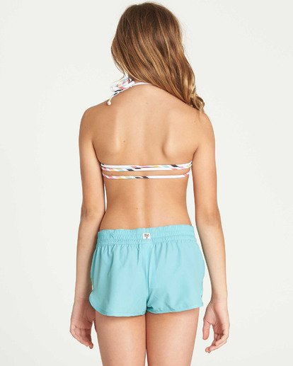 2 Girls' Sol Searcher Volley Elastic Waist Boardshort Green G101TBSO Billabong