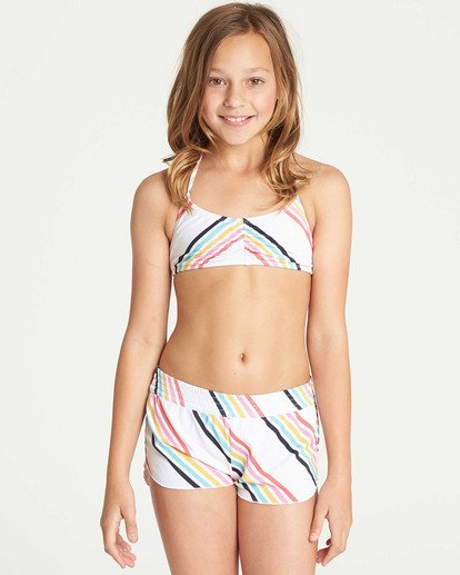 0 Girls' Seeing Rainbows Volley Boardshort  G105TBSE Billabong