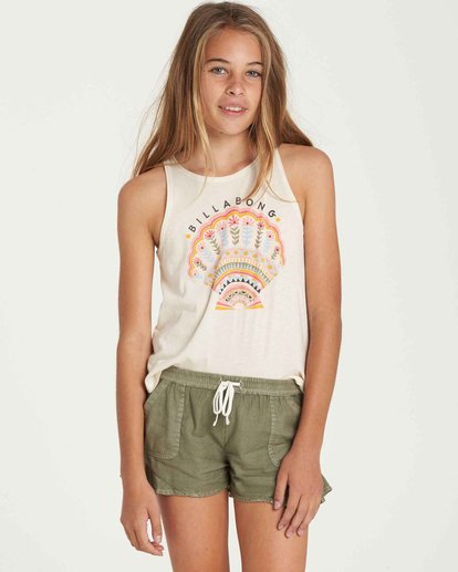 0 Girls' Mad For You Short Green G201QBMA Billabong