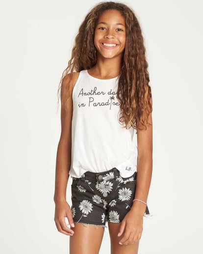 0 Girls' Buttoned Up Denim Short Black G202QBBU Billabong
