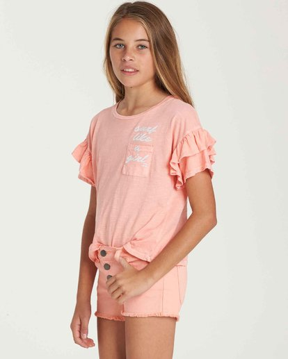 1 Girls' Buttoned Up Denim Short  G202QBBU Billabong