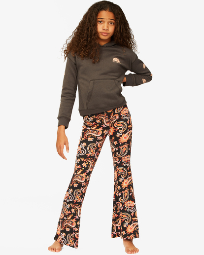 0 Girls' Tell Me Stretchy Flared Pants Black G301PBTE Billabong