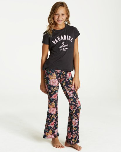 0 Girls' Tell Me Pant Black G301PBTE Billabong