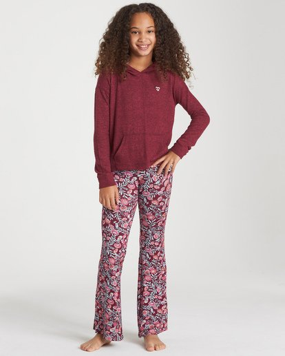 0 Girls' Tell Me Pant Red G301PBTE Billabong