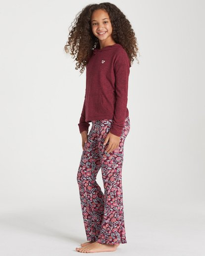 1 Girls' Tell Me Pant Red G301PBTE Billabong
