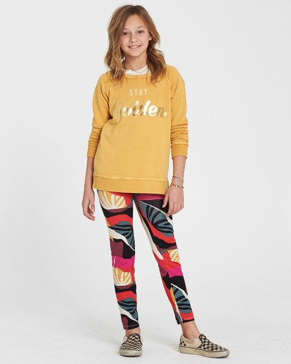 0 Girls' Leg Up Printed Legging Black G302QBLE Billabong
