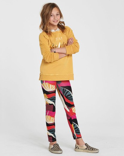 1 Girls' Leg Up Printed Legging Black G302QBLE Billabong