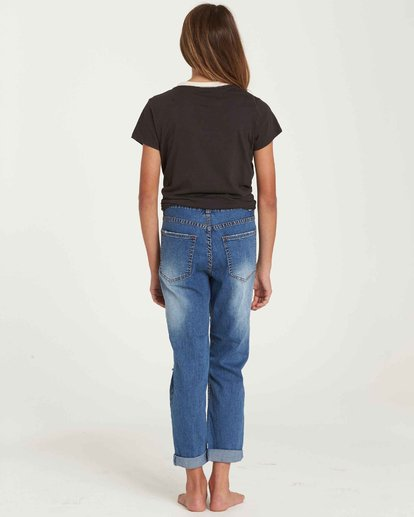 2 Girls' Just Chill Denim Pant Blue G304QBJU Billabong