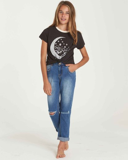 0 Girls' Just Chill Denim Pant Black G304QBJU Billabong