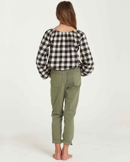 2 Girls' Just Chill Denim Pant Green G304QBJU Billabong