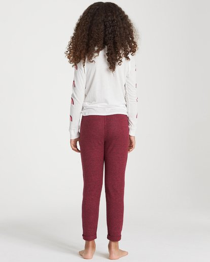 2 Girls' So Cozy Sweatpant Red G305VBSO Billabong