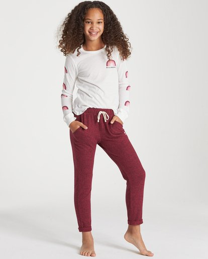0 Girls' So Cozy Sweatpant Red G305VBSO Billabong