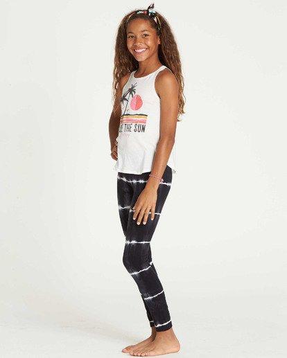 1 Girls' Leg Up Tie-Dye Leggings Black G310SBLE Billabong