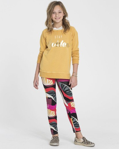 0 Girls' Leg Up Tie-Dye Leggings  G310SBLE Billabong