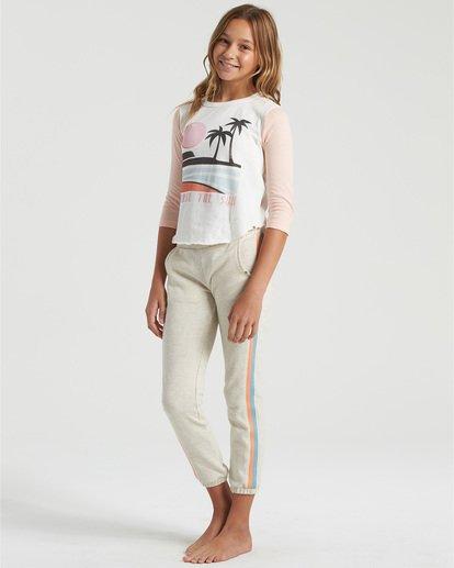 2 Girls' Stripes Today Sweatpants Grey G3403BST Billabong