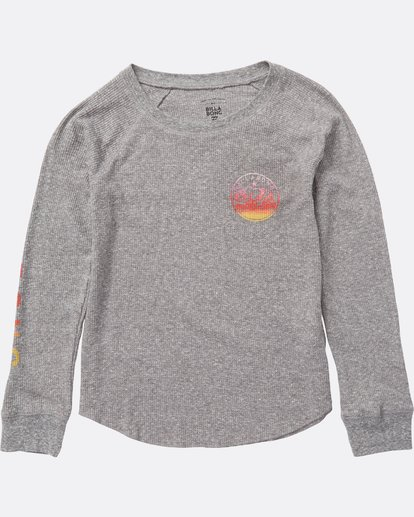 1 Girls' Billabong Bear Thermal Grey G413SBBI Billabong