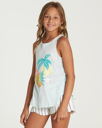 1 Vacation Pineapple Tank Blue G414UBVA Billabong