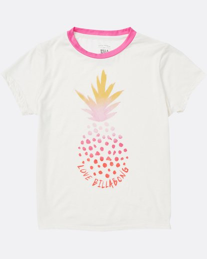 0 Girls' Rainbow Pineapple Tee  G416SBRA Billabong