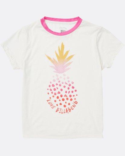 1 Girls' Rainbow Pineapple Tee  G416SBRA Billabong