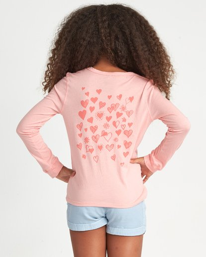 1 Girls' Hearts Allover Pink G4201BHE Billabong