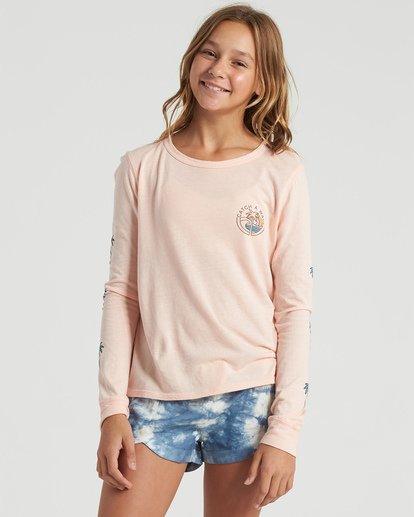 0 Girls' Catch A Wave Long Sleeve T-Shirt Multicolor G4203BCA Billabong