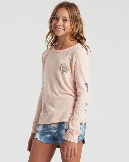 1 Girls' Catch A Wave Long Sleeve T-Shirt Multicolor G4203BCA Billabong