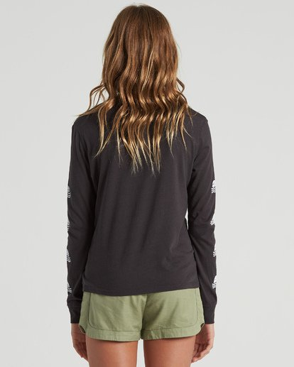 2 Girls' Into The Sunset Long Sleeve T-Shirt Black G4203BIN Billabong