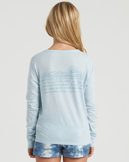 1 Girls' Show Gratitude Long Sleeve T-Shirt Multicolor G4203BSH Billabong