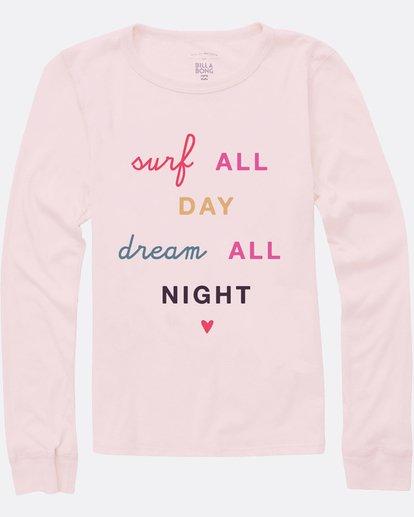 0 Girls' Surf All Day Long Sleeve T-Shirt Pink G420SBSU Billabong