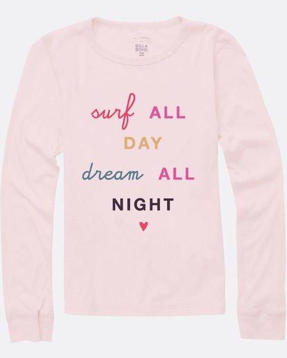 1 Girls' Surf All Day Long Sleeve T-Shirt Pink G420SBSU Billabong