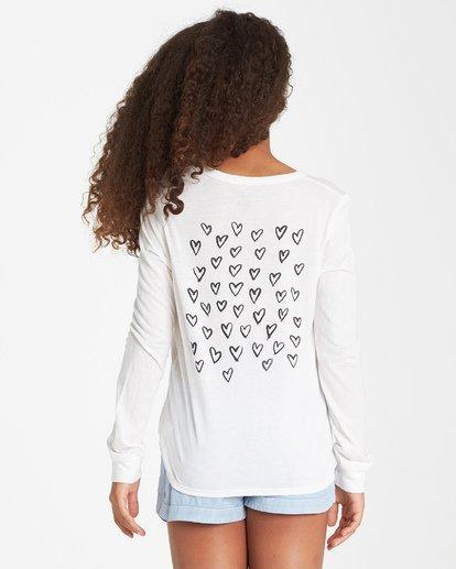 2 Girls' Drifting Hearts Long Sleeve T-Shirt Beige G420VBDR Billabong