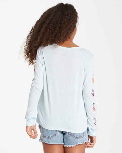 2 Girls' Hearts N Pineapples Long Sleeve T-Shirt  G420VBHE Billabong