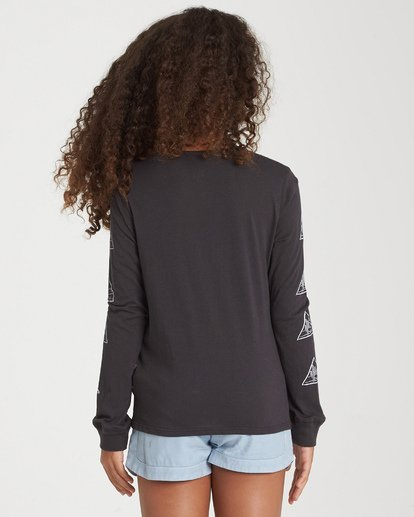 2 Girls' Cactus Sunshine Long Sleeve T-Shirt Black G420WBCA Billabong