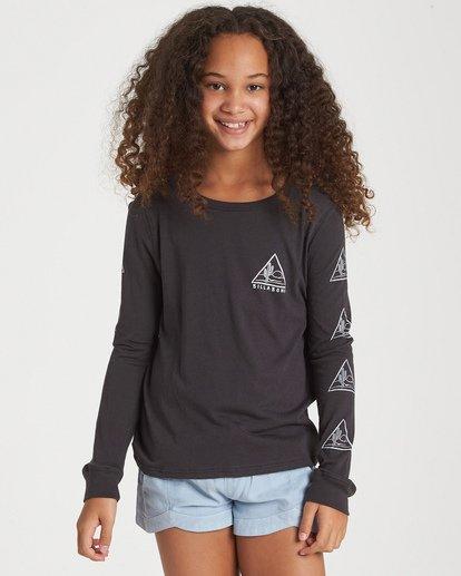 0 Girls' Cactus Sunshine Long Sleeve T-Shirt Black G420WBCA Billabong