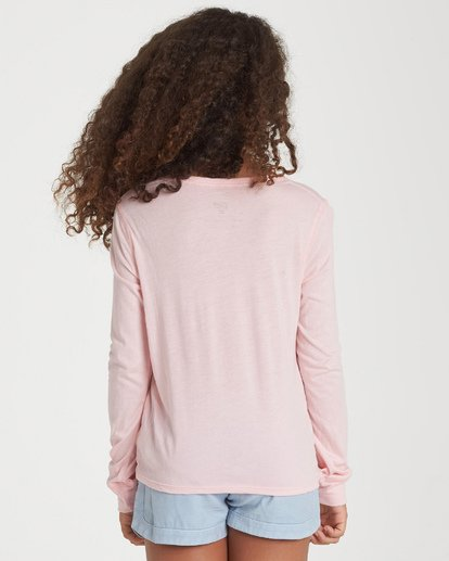 2 Girls' Love The Beach Long Sleeve T-Shirt Grey G420WBLO Billabong
