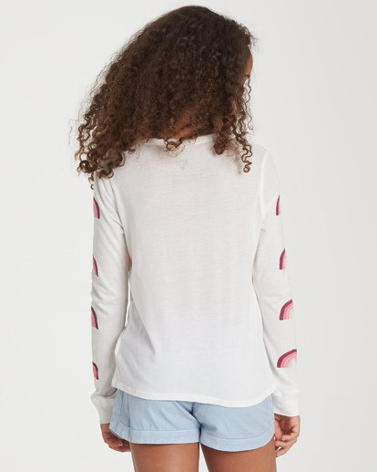 2 Girls' Over The Rainbow Long Sleeve T-Shirt Beige G420WBOV Billabong