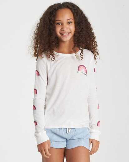 0 Girls' Over The Rainbow Long Sleeve T-Shirt Beige G420WBOV Billabong