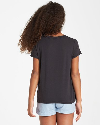 2 Girls' No Mornings T-Shirt Black G424VBNO Billabong