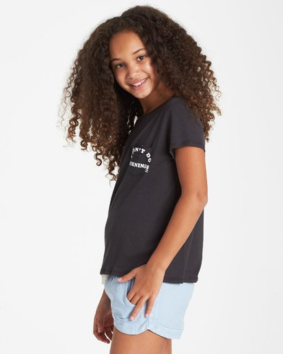 1 Girls' No Mornings T-Shirt Black G424VBNO Billabong