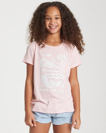 0 Girls' From The Sea T-Shirt Grey G424WBFR Billabong