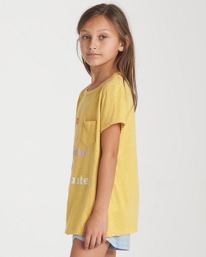 1 Girls' Hello Love T-Shirt Blue G424WBHE Billabong